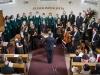 2018 – Vystoupení na 10. ročníku sborového festivalu Otevřená zahrada, evangelický kostel v Libčicích nad Vltavou 19. 5. 2018 – foto: Martin Pilpach